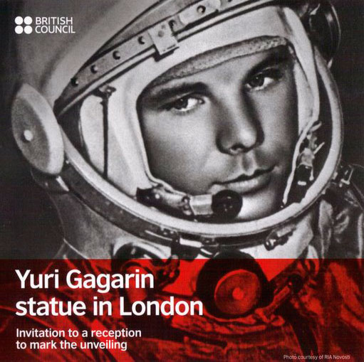 Gagarin Statue Launch